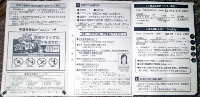 免許更新のお知らせハガキ_千葉_裏